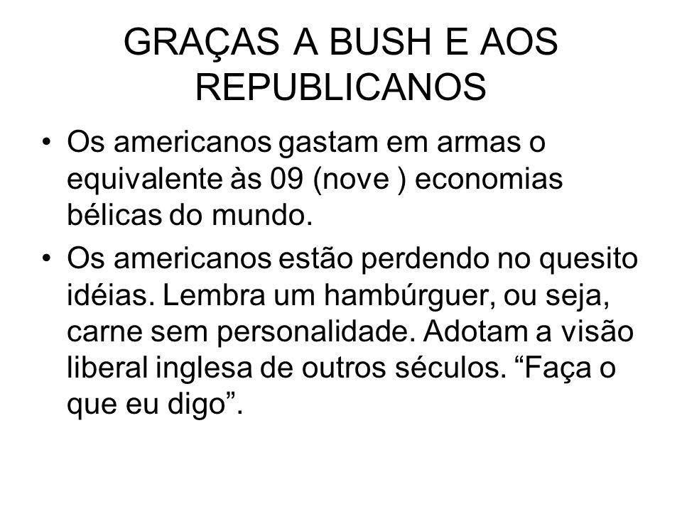 GRAÇAS A BUSH E AOS REPUBLICANOS