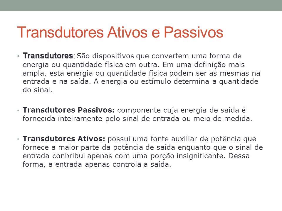 Transdutores Ativos e Passivos