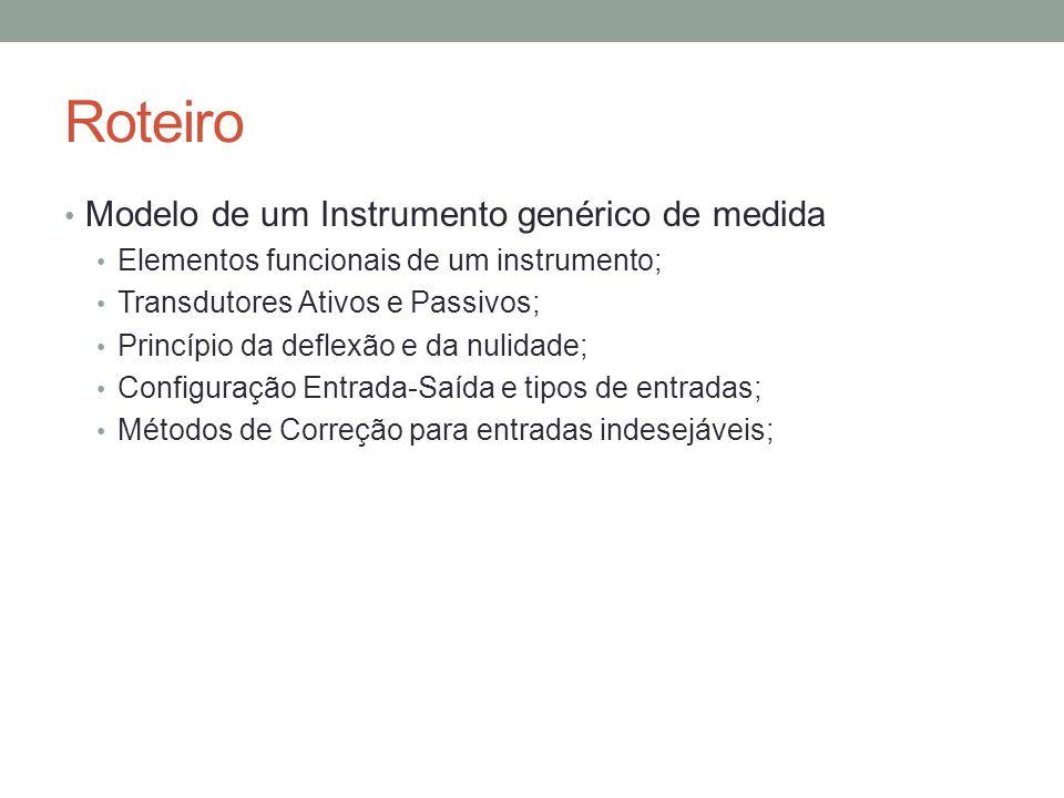 Roteiro Modelo de um Instrumento genérico de medida
