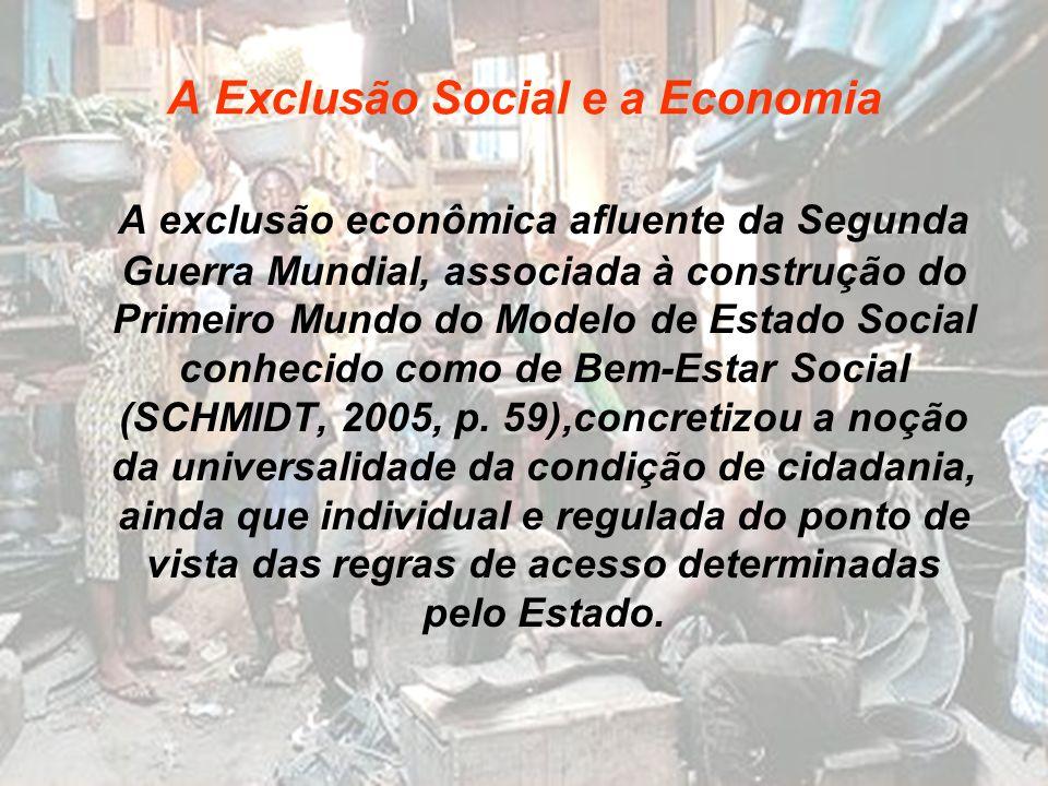 A Exclusão Social e a Economia