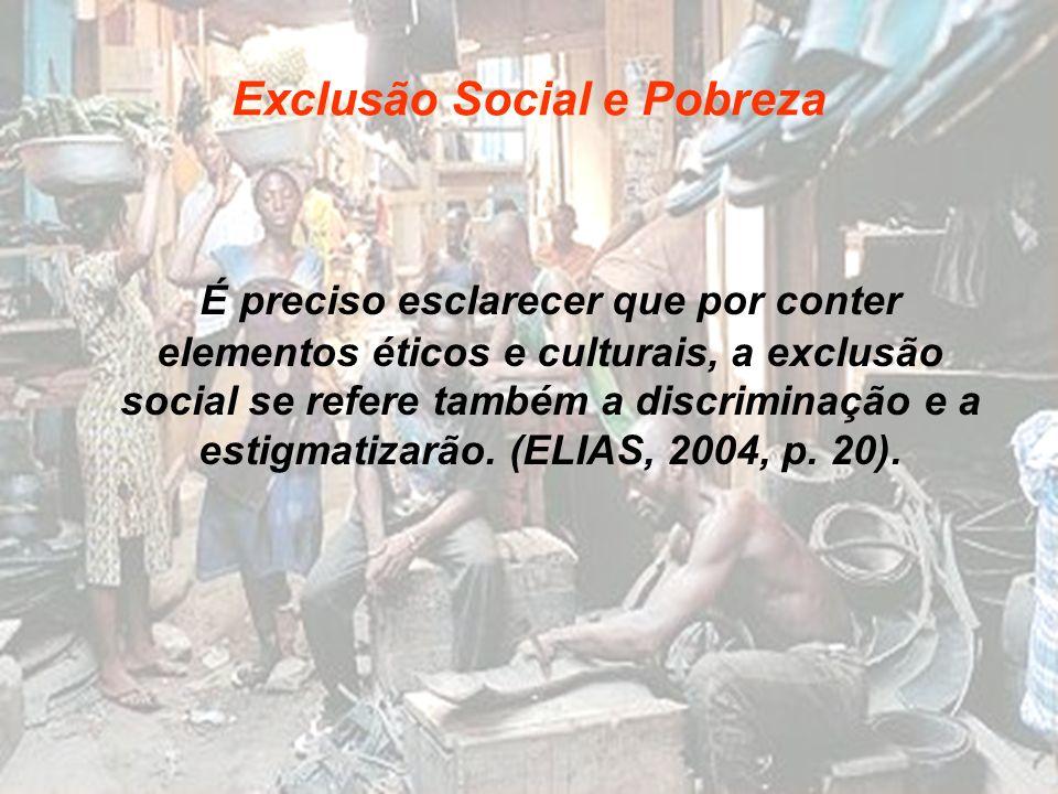 Exclusão Social e Pobreza