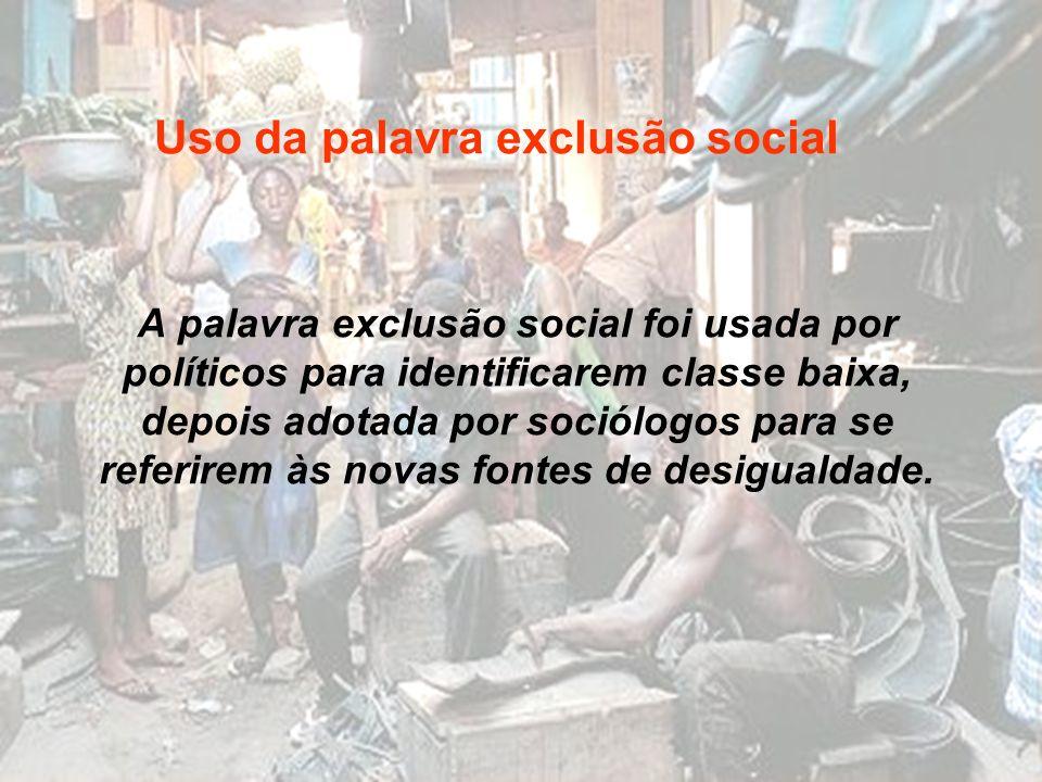 Uso da palavra exclusão social