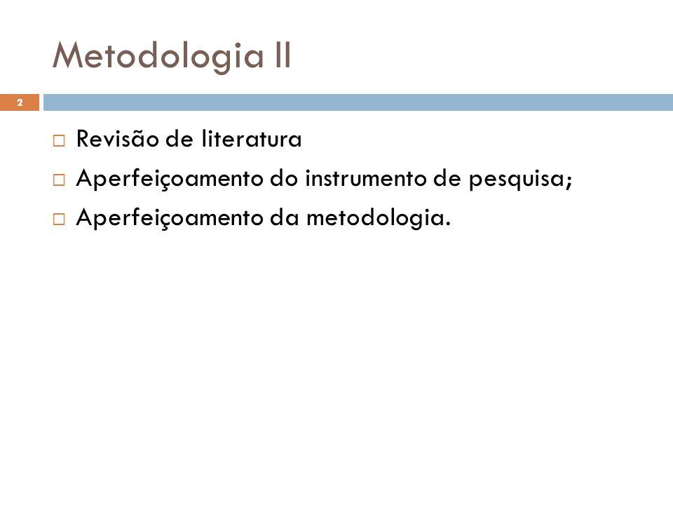 Metodologia II Revisão de literatura