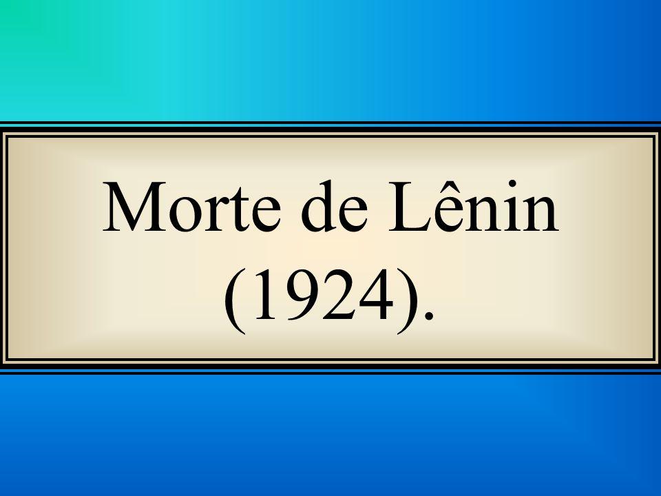 Morte de Lênin (1924).