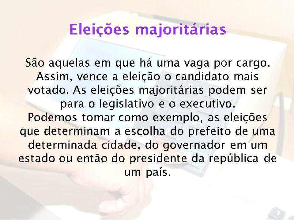 Eleições majoritárias
