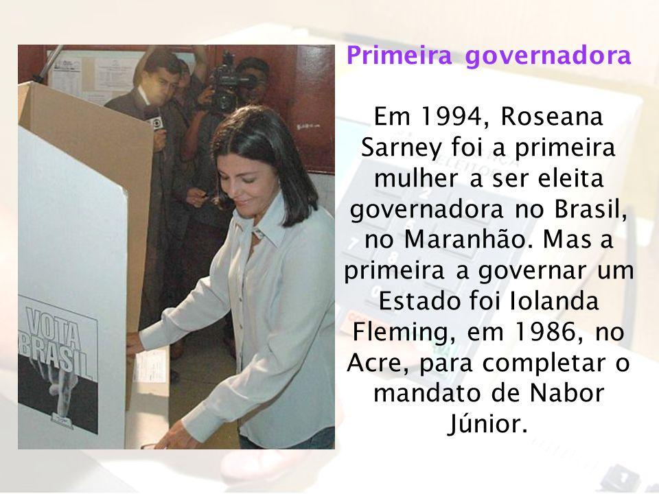 Primeira governadora