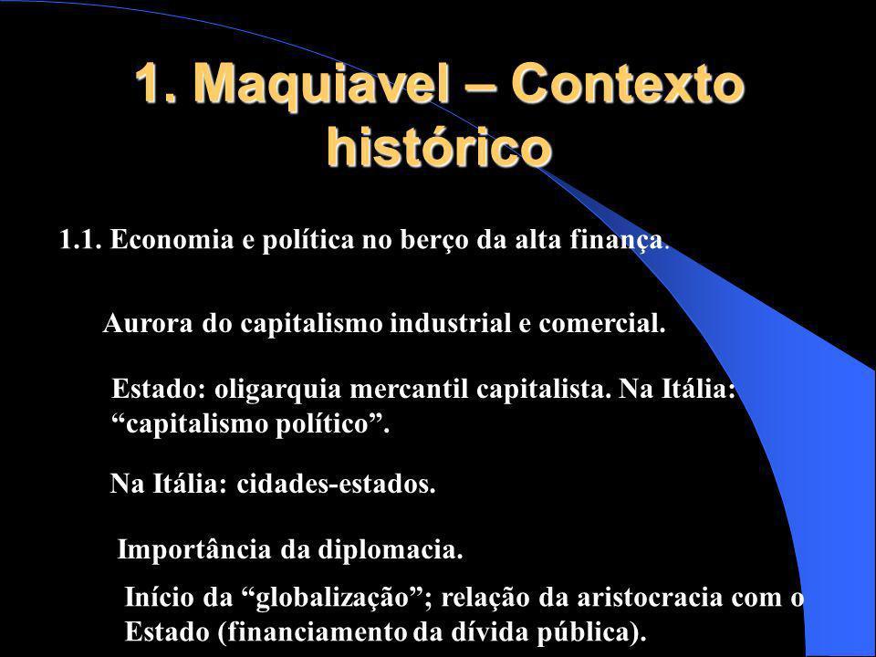 1. Maquiavel – Contexto histórico