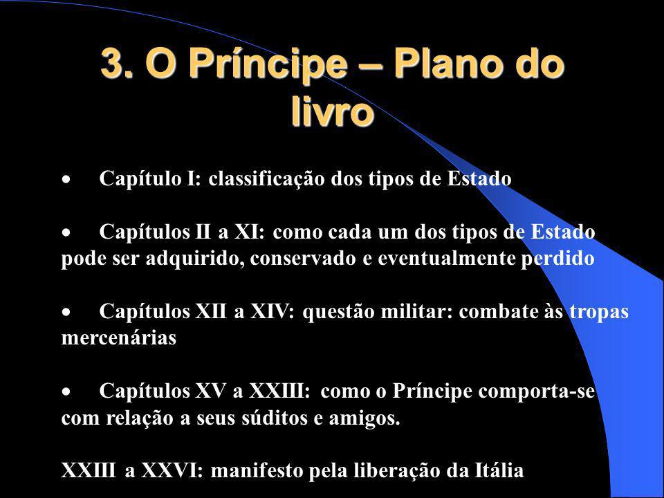 3. O Príncipe – Plano do livro