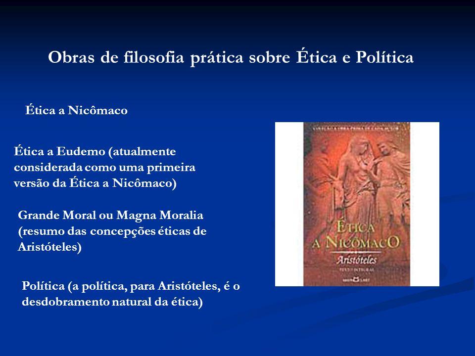 Obras de filosofia prática sobre Ética e Política