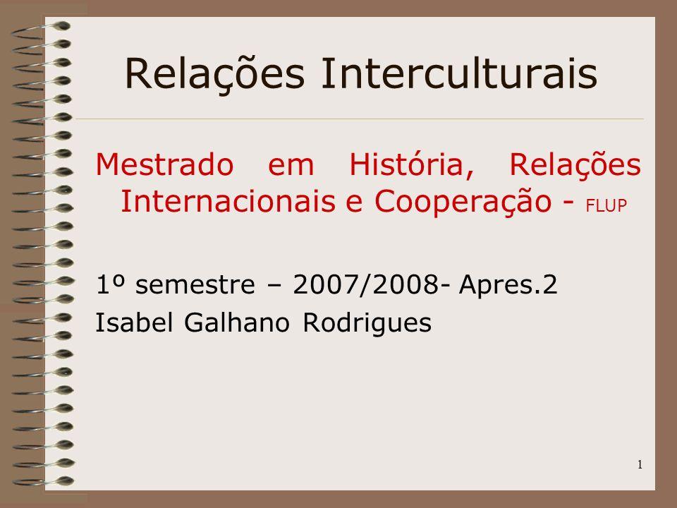 Relações Interculturais