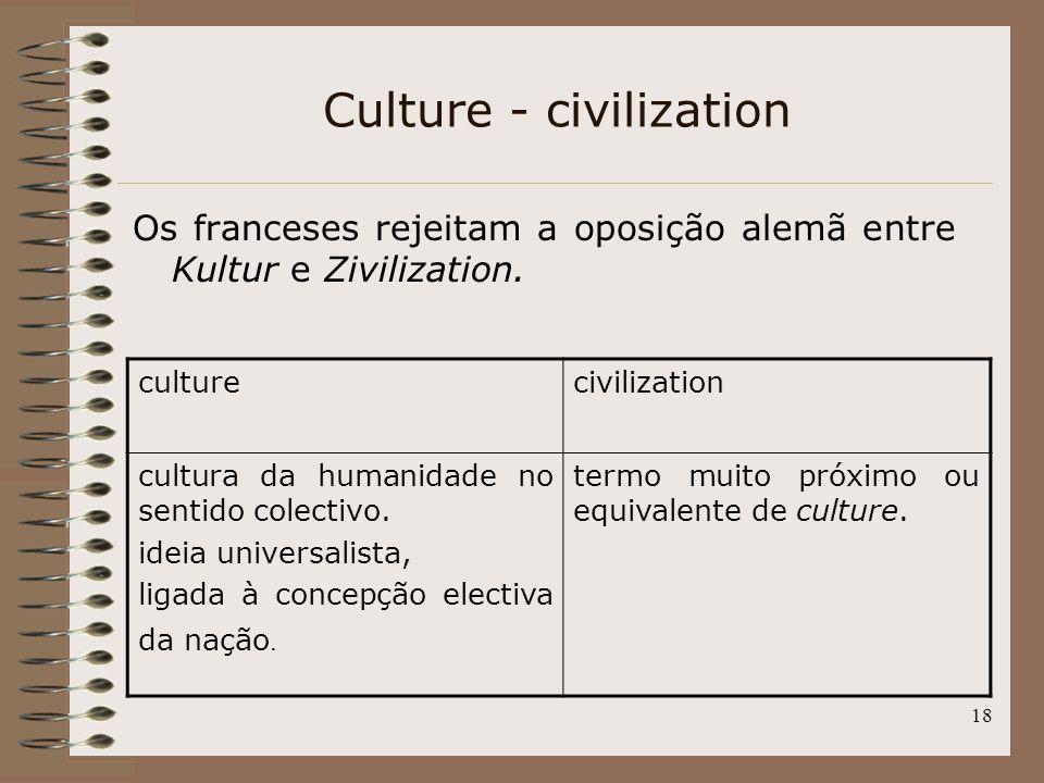Culture - civilization