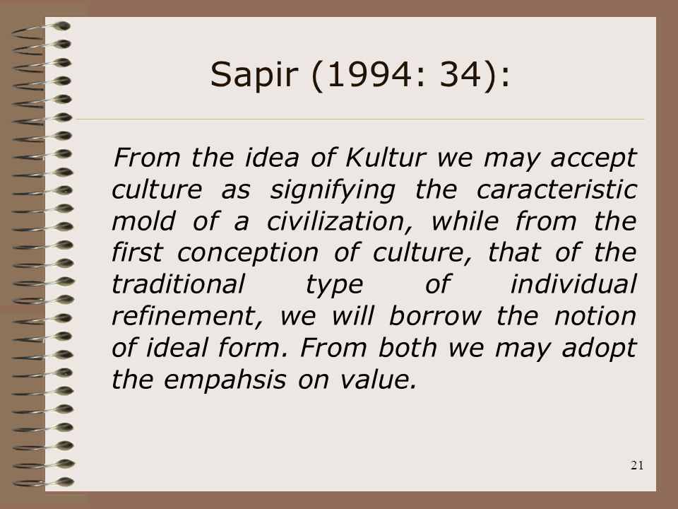 Sapir (1994: 34):
