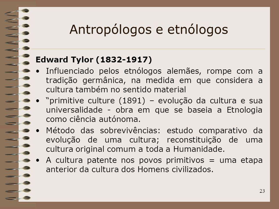 Antropólogos e etnólogos
