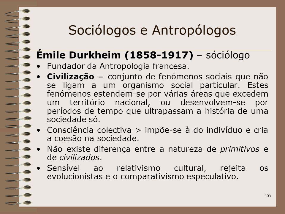 Sociólogos e Antropólogos