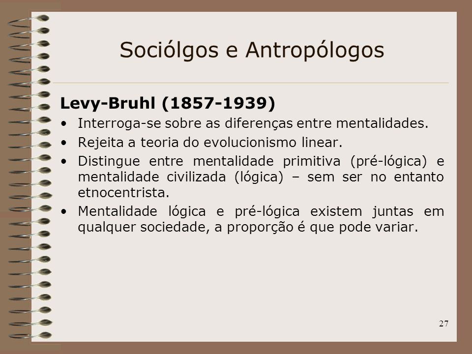 Sociólgos e Antropólogos