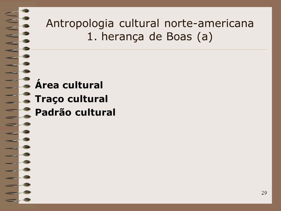 Antropologia cultural norte-americana 1. herança de Boas (a)