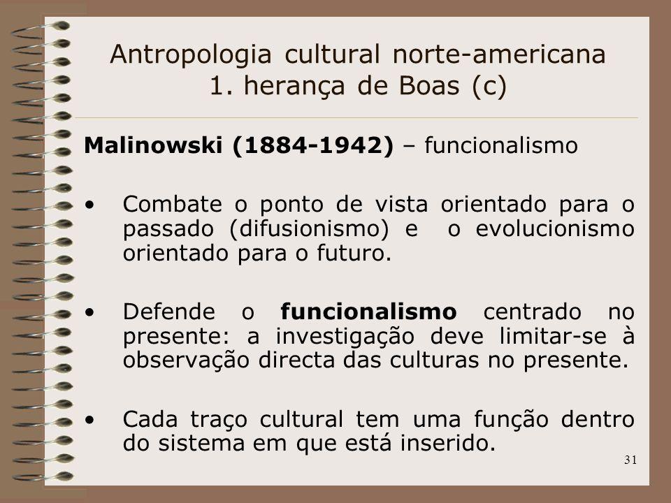 Antropologia cultural norte-americana 1. herança de Boas (c)