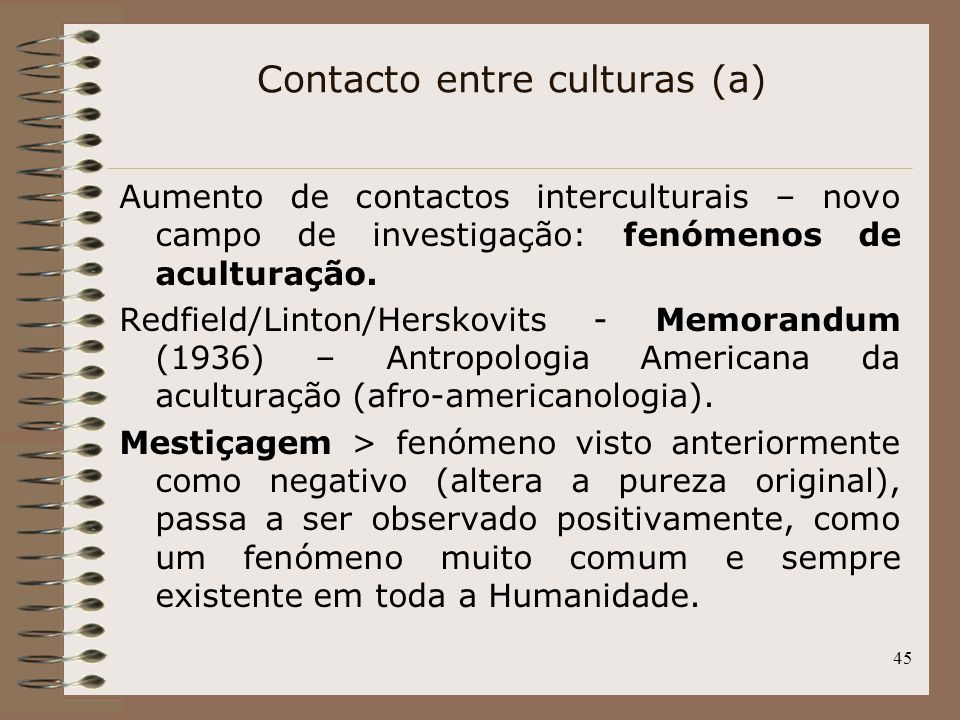 Contacto entre culturas (a)