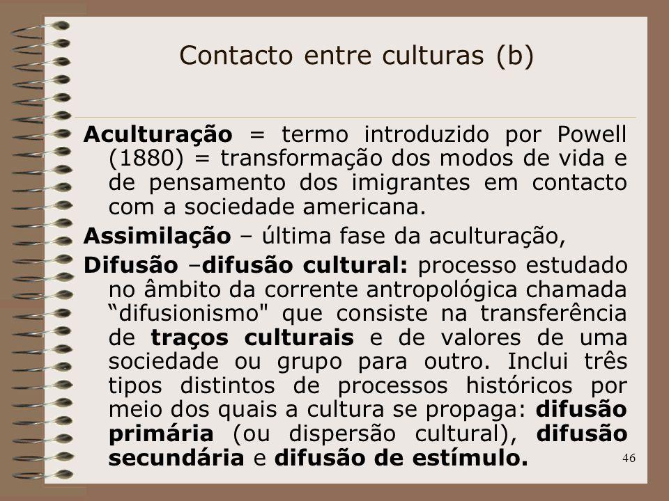 Contacto entre culturas (b)
