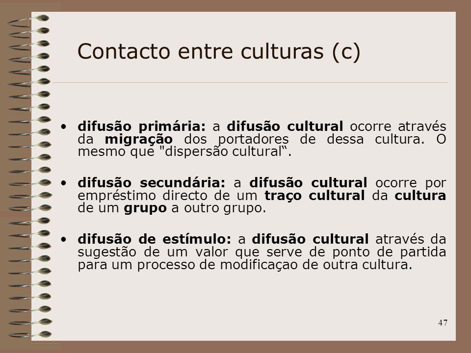 Contacto entre culturas (c)