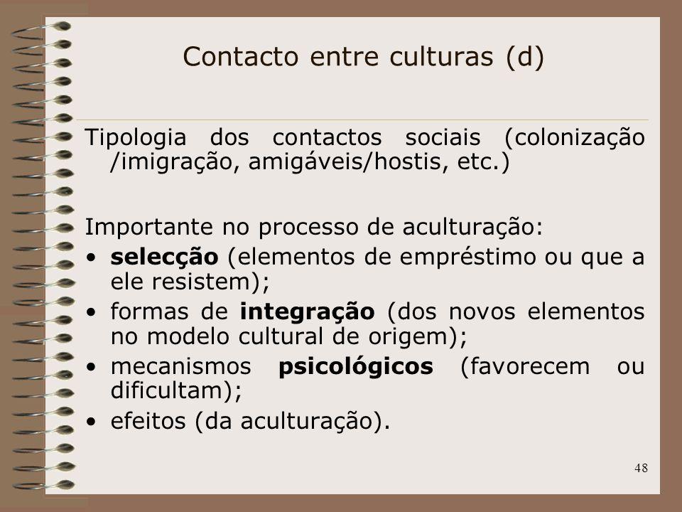 Contacto entre culturas (d)
