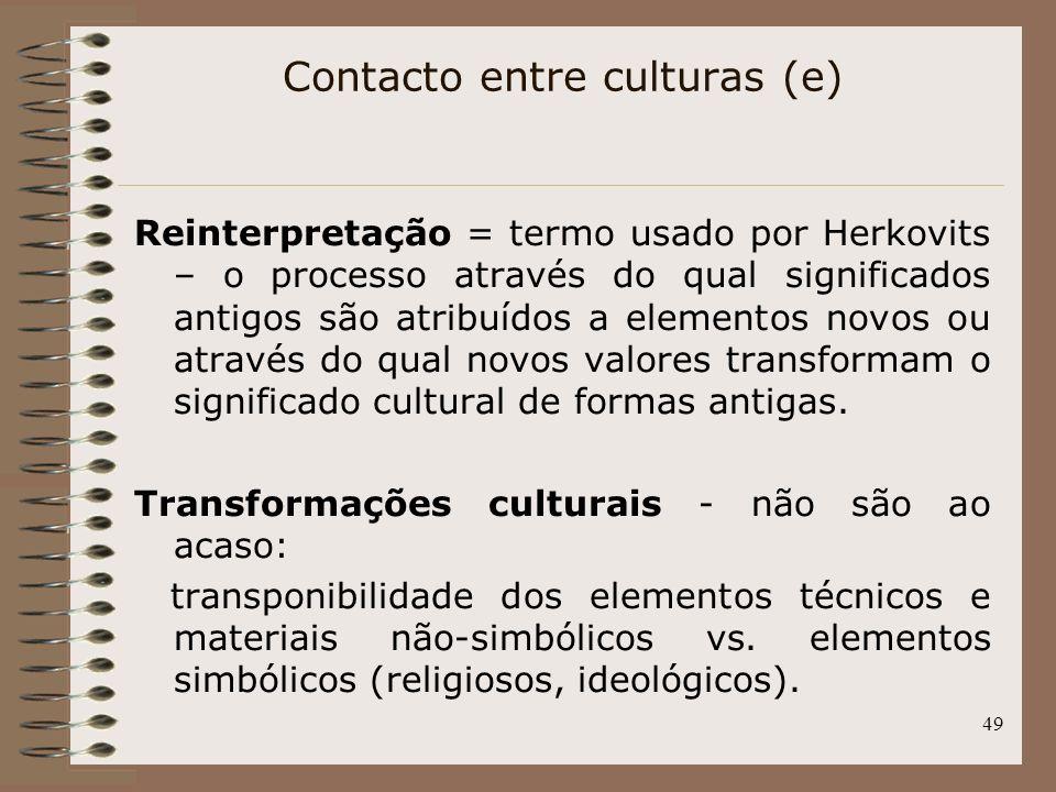 Contacto entre culturas (e)