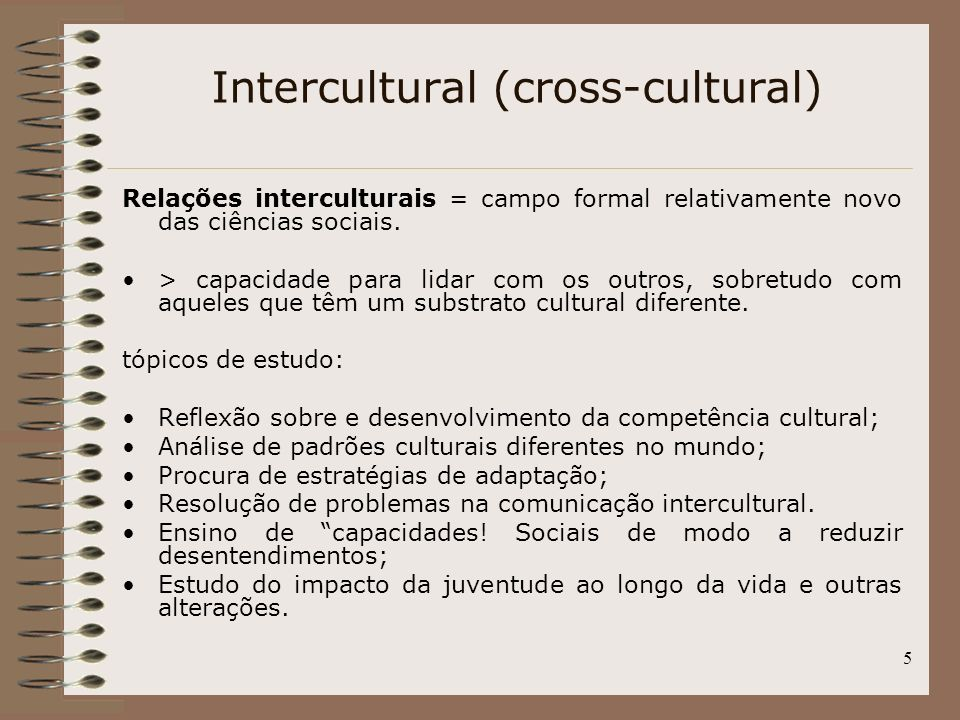 Intercultural (cross-cultural)