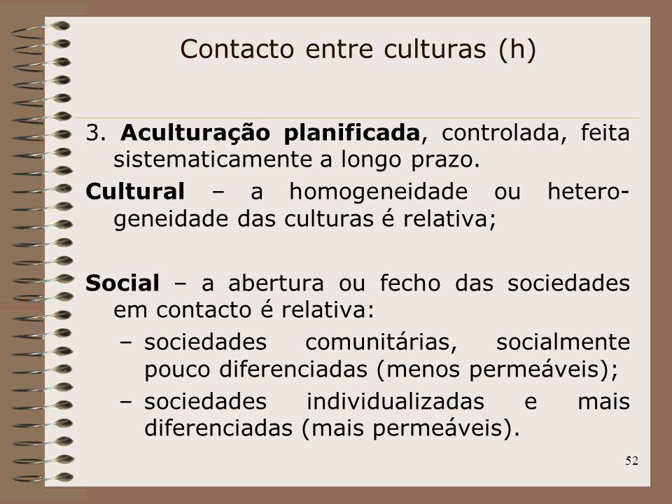 Contacto entre culturas (h)