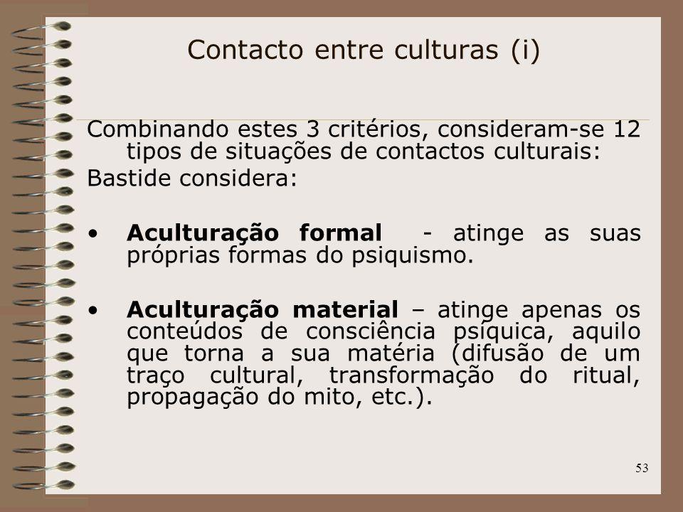 Contacto entre culturas (i)