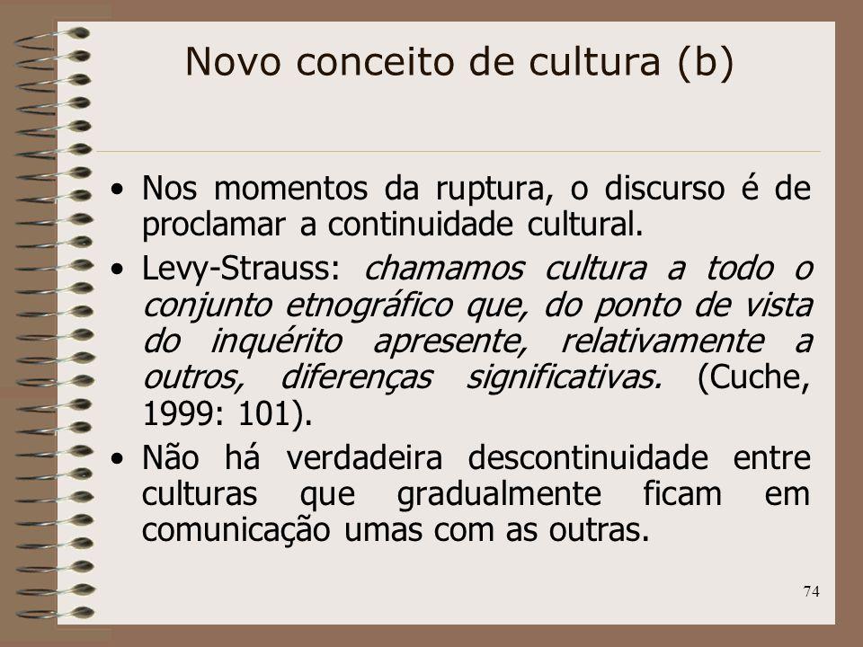 Novo conceito de cultura (b)