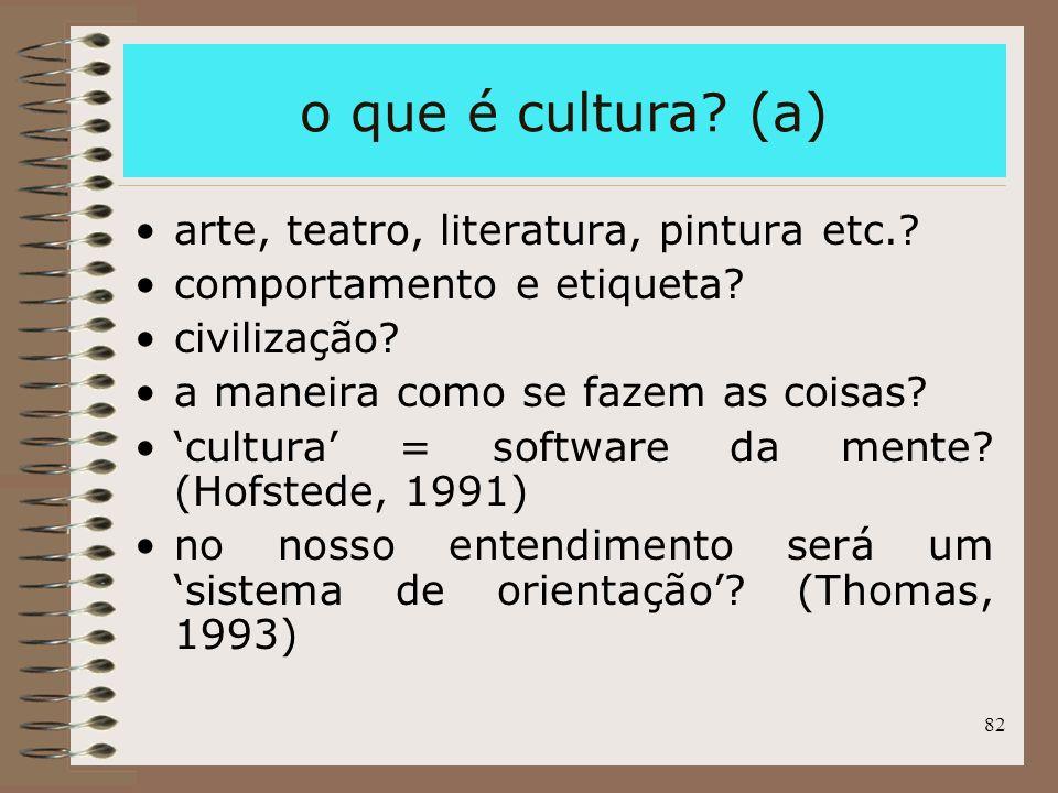 o que é cultura (a) arte, teatro, literatura, pintura etc.