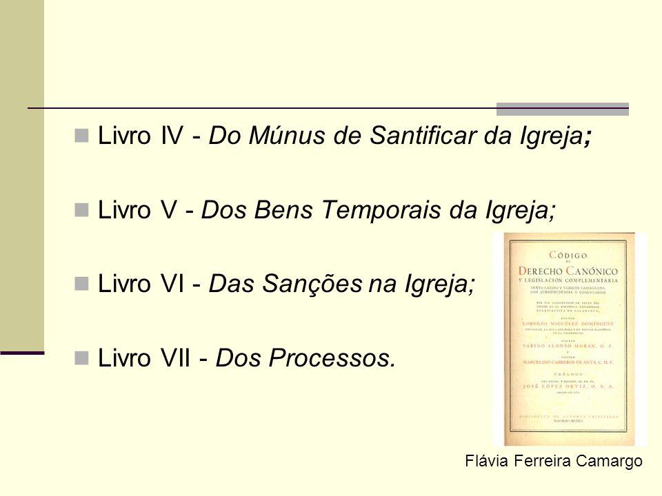 Livro IV - Do Múnus de Santificar da Igreja;