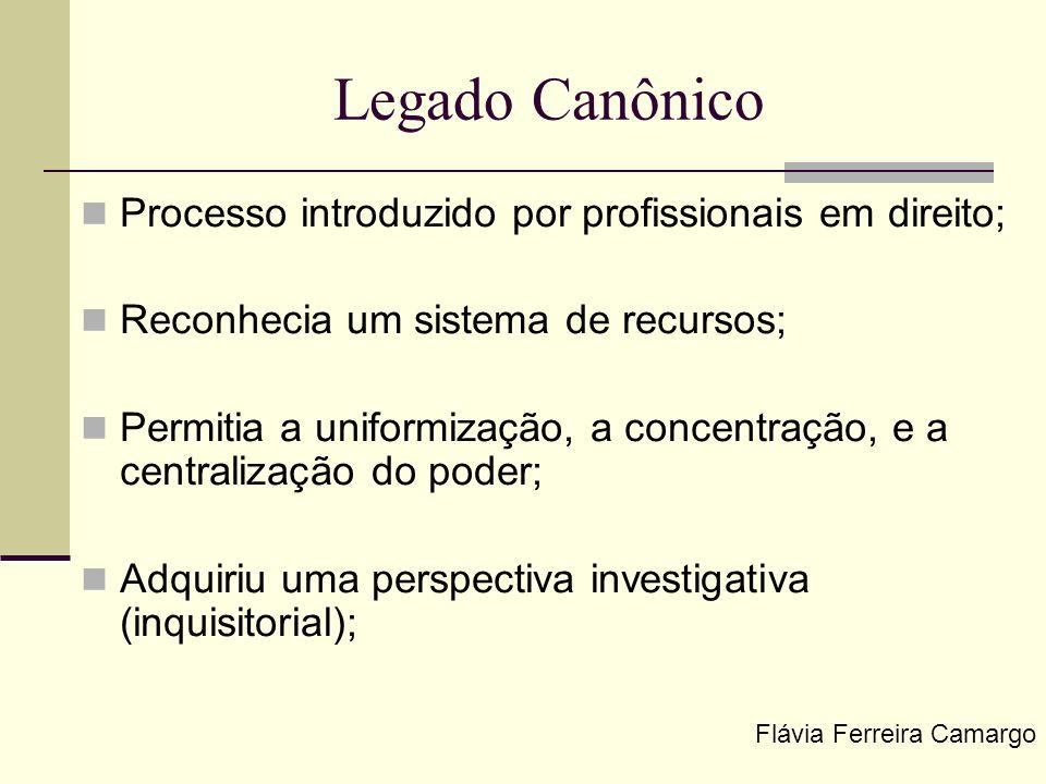 Legado Canônico Processo introduzido por profissionais em direito;