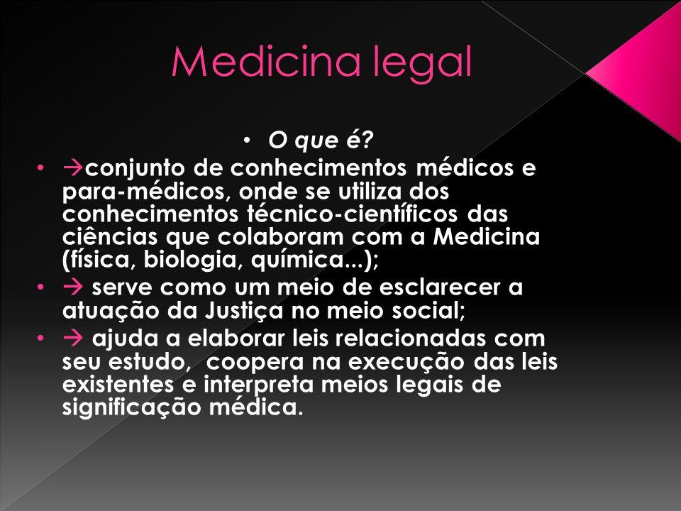 Medicina legal O que é