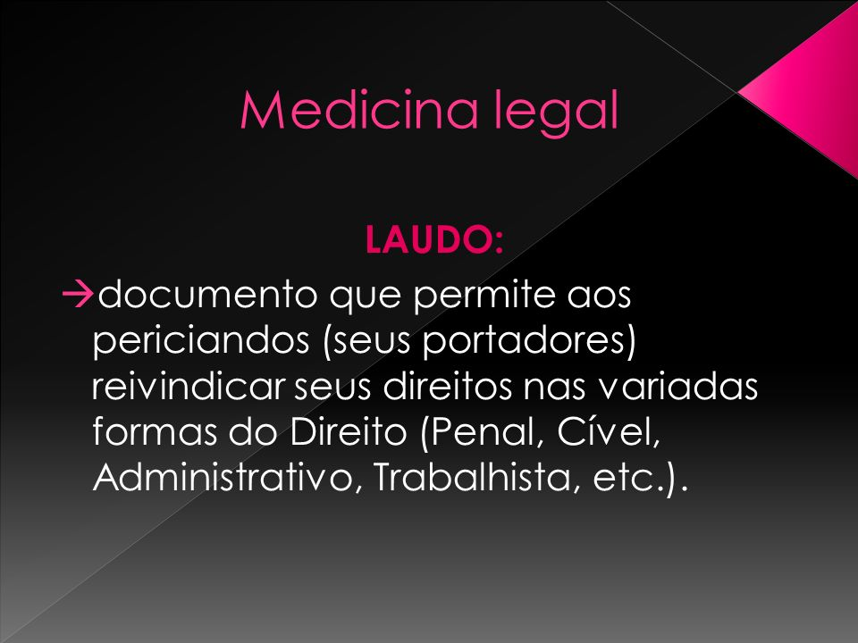 Medicina legal LAUDO: