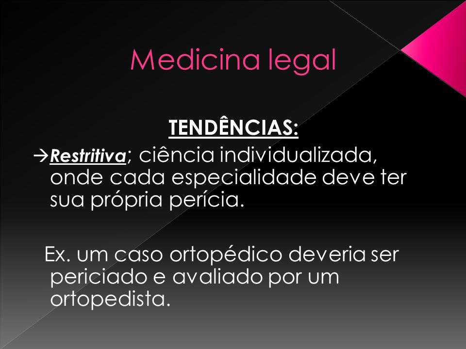 Medicina legal TENDÊNCIAS: