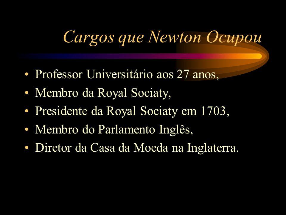 Cargos que Newton Ocupou