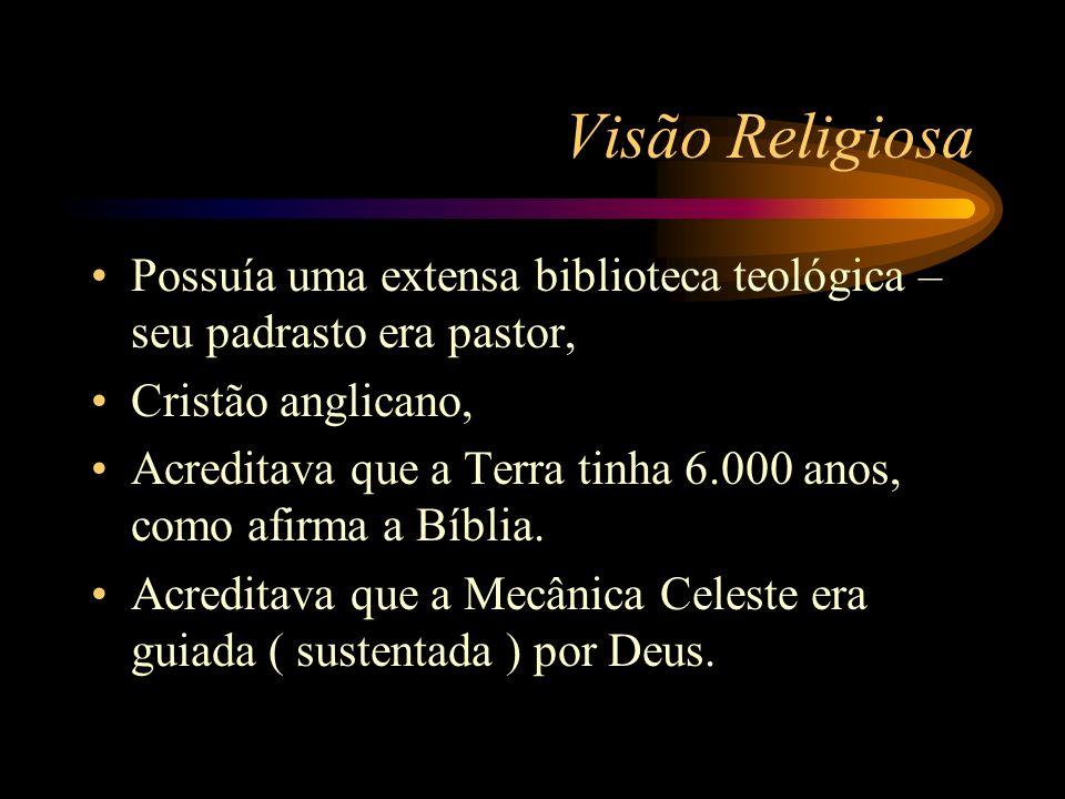 Visão ReligiosaPossuía uma extensa biblioteca teológica – seu padrasto era pastor, Cristão anglicano,