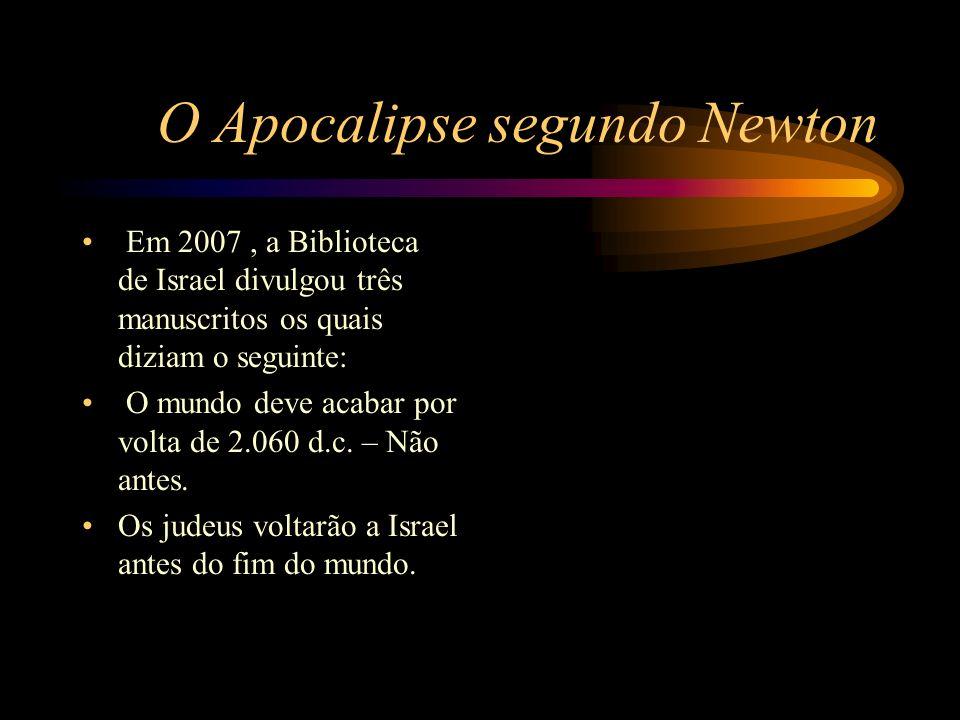 O Apocalipse segundo Newton