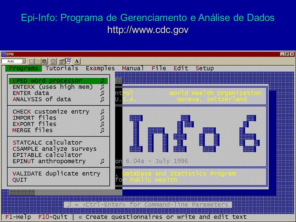 Epi-Info: Programa de Gerenciamento e Análise de Dados