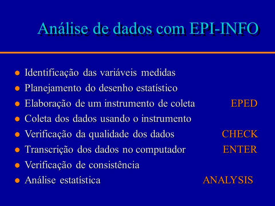 Análise de dados com EPI-INFO