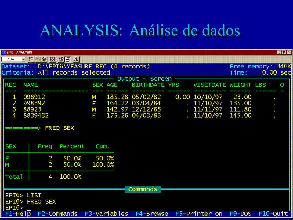 ANALYSIS: Análise de dados