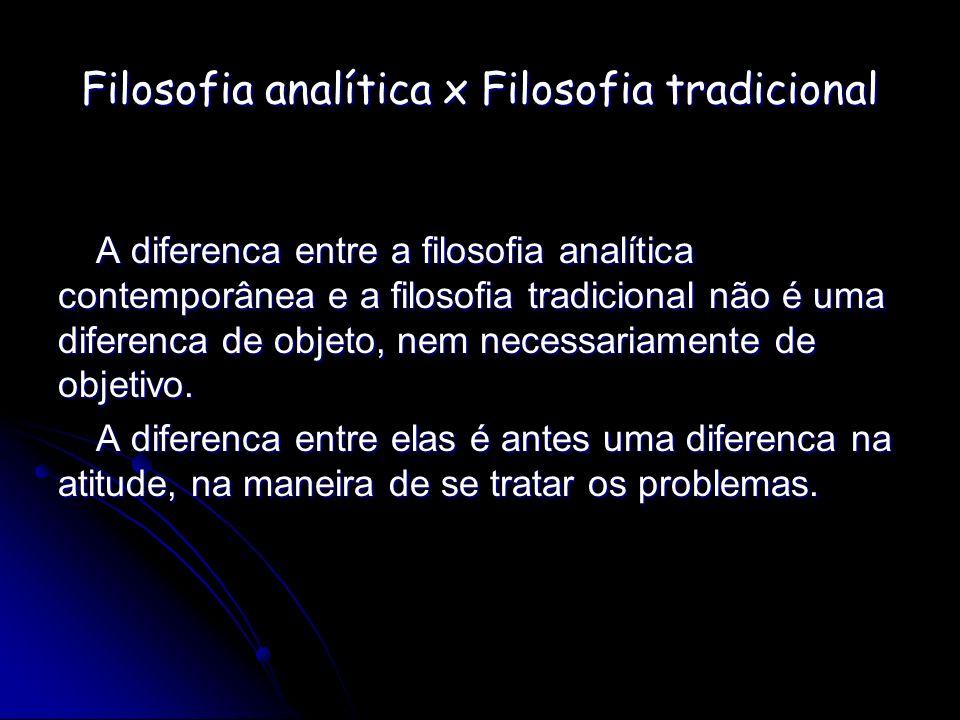 Filosofia analítica x Filosofia tradicional