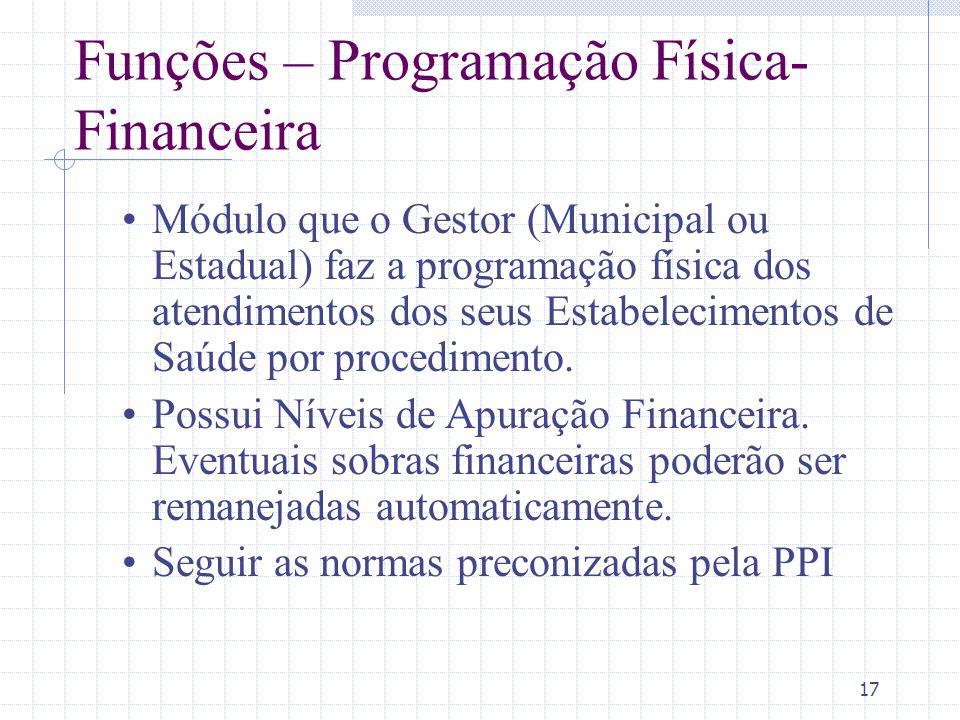 Funções – Programação Física-Financeira