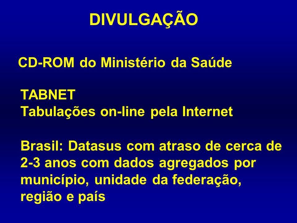 DIVULGAÇÃO CD-ROM do Ministério da Saúde
