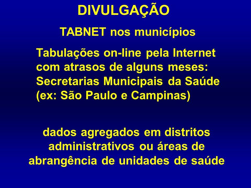 DIVULGAÇÃO TABNET nos municípios