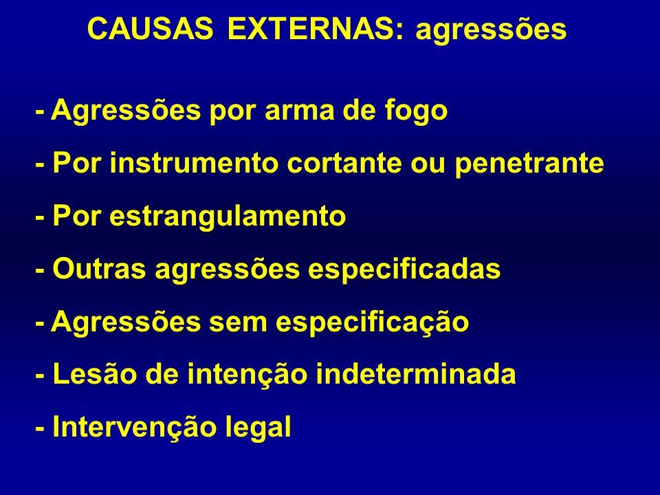 CAUSAS EXTERNAS: agressões