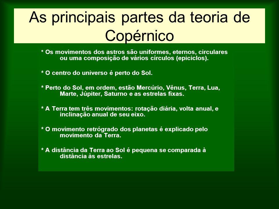 As principais partes da teoria de Copérnico