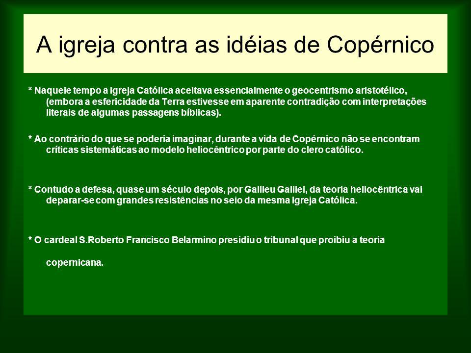 A igreja contra as idéias de Copérnico