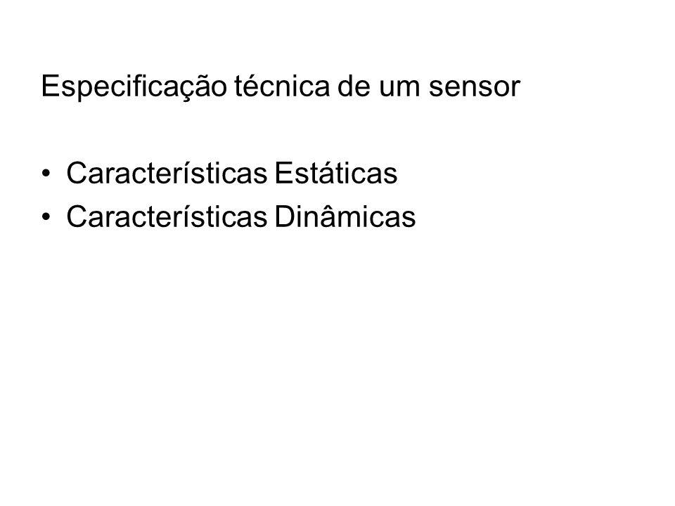 Especificação técnica de um sensor